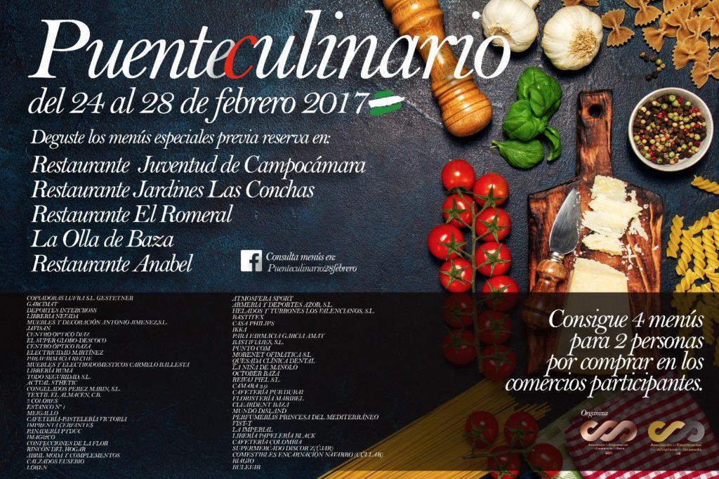 Cartel Puente Culinario Comercios