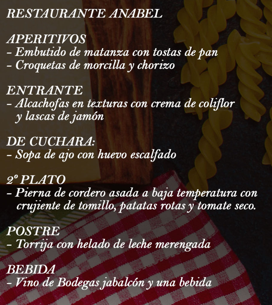 Cartel Restaurante Anabel