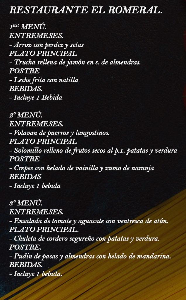 Cartel Restaurante El Romeral