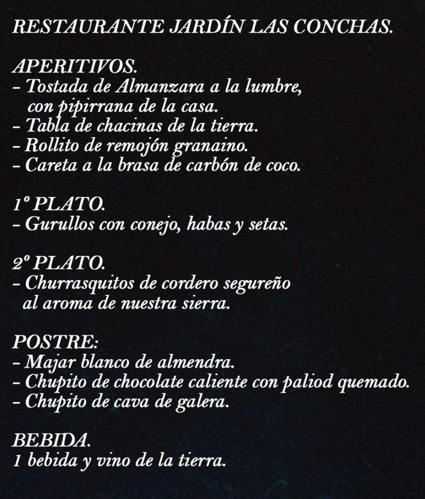 Cartel Restaurante Jadín las Conchas