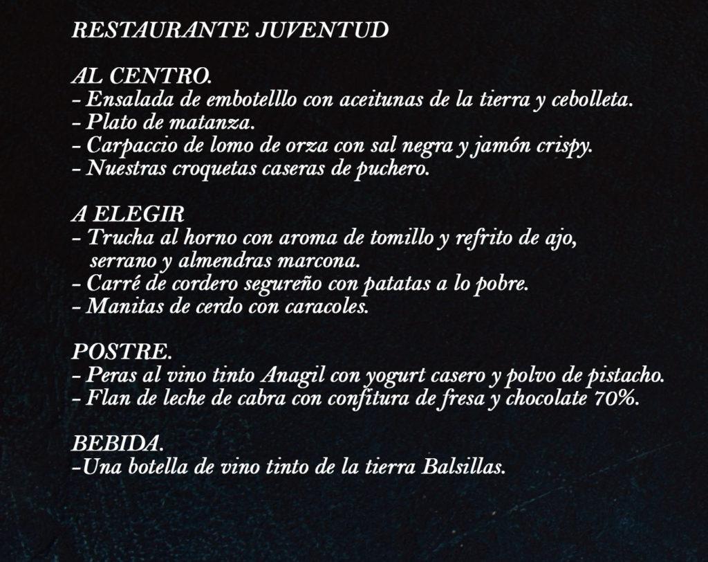 Cartel Restaurante Juventud